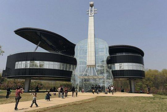 Музыкальный дом в китайском городе Хунань.