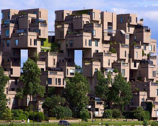 Многоквартирный дом habitat 67. Монреаль, Канада