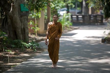 Монах на прогулке